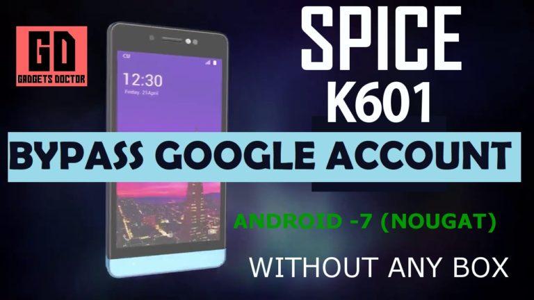 Spice K601 FRP Bypass,Bypass Google FRP Spice K601