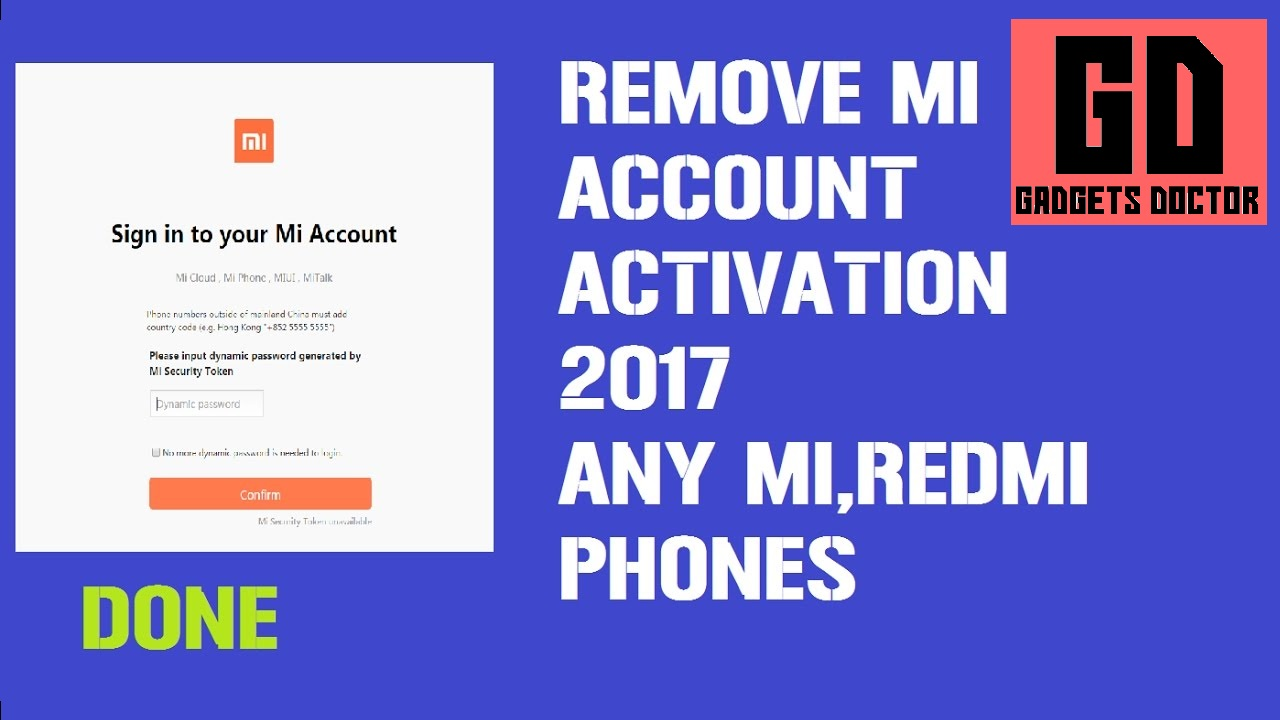 BYPASS MI ACCOUNT All MIUI 9 ANDROID 7 0