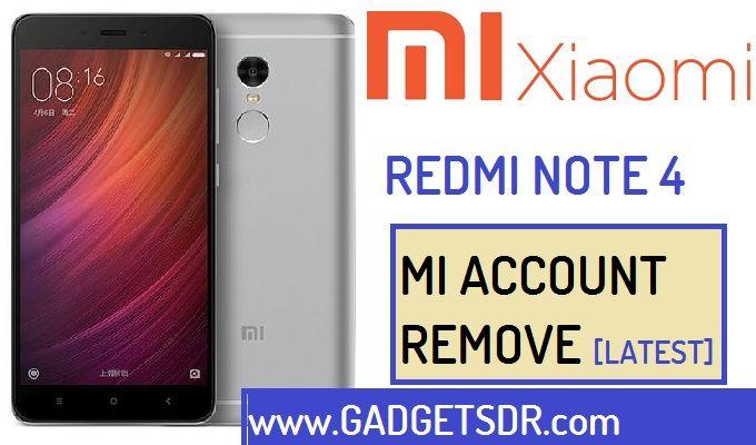 Remove MI Account Xiaomi Redmi Note 4 (MTK)