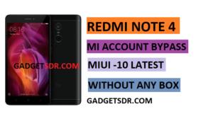Redmi Note 4 Mi Account Remove,Redmi Note 4 Mi Account Bypass,Redmi Note 4 Mi Cloud Remove,