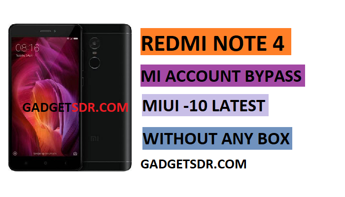 Redmi Note 4 Mi Account Remove,Redmi Note 4 Mi Account Bypass,Redmi Note 4 Mi Cloud Remove,