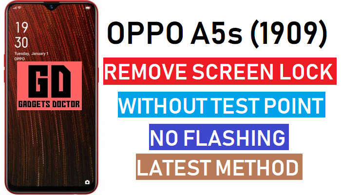 Remove Oppo A5s (CPH1909) Pattern Lock, Password Offline No