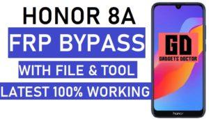 honor 8a frp bypass
