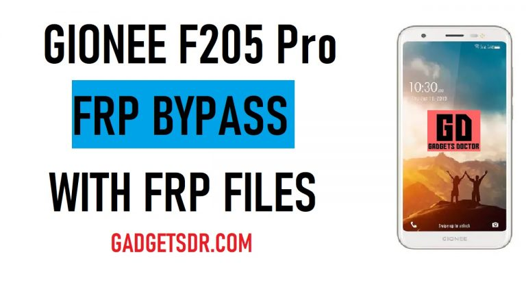 gionee f205 pro frp bypass