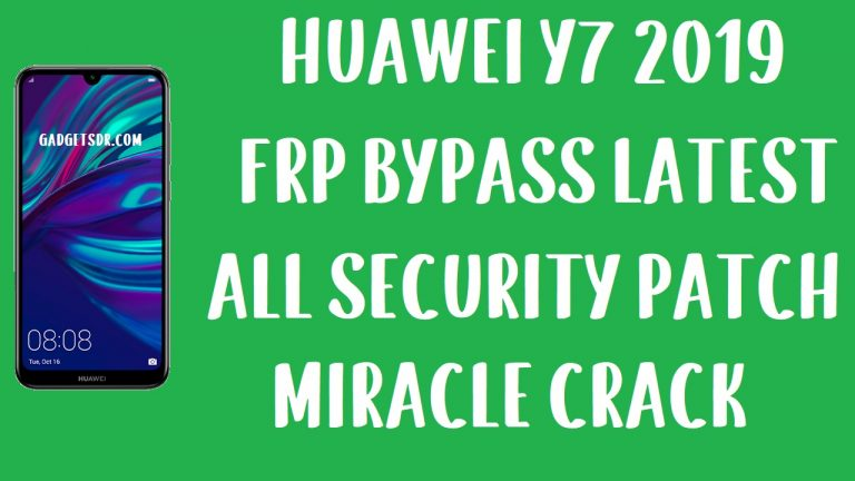 Huawei Y7 2019 DUB-LX1 FRP Bypass With FRP File