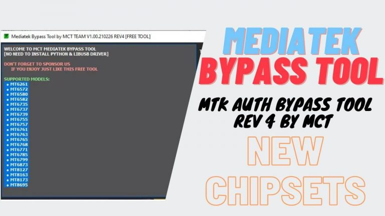 Download MTK Bypass Tool by MCT Team – All MediaTek Auth Bypass Tool Free