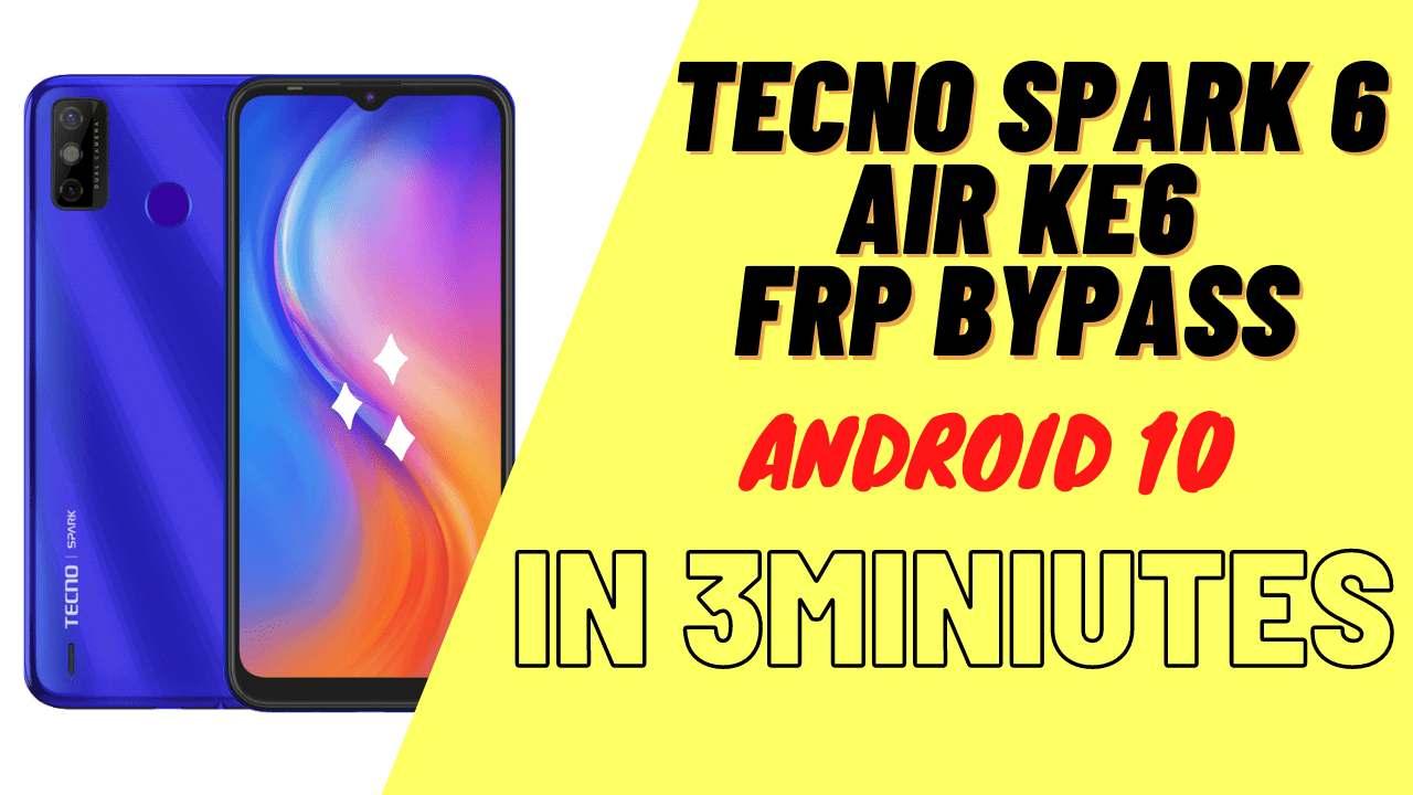 Tecno Spark 6 Air KE6 Da & Frp File SP Tool (Unlock Google) One-Click