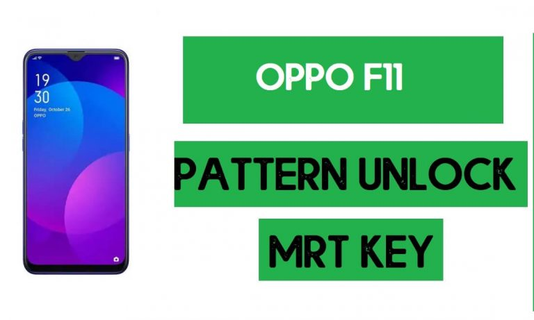 OPPO F11 Pattern Unlock (Remove Screen Lock) with MRT Key