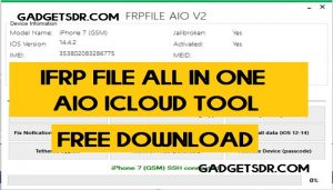 iFrp file all in one AIO iCloud Tool V2.3 Free Download latest (All Version)