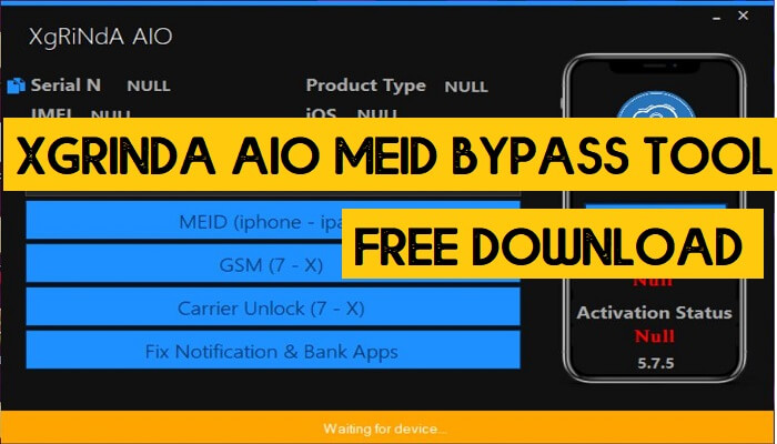 XgRiNdA AIO MEID Bypass Tool V6.0.2 Free Download   Latest Version
