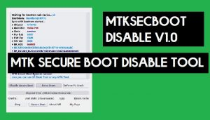 MTKSecBootDisableV1.0.0R001 - MTK Secure Boot Disable Tool (Auth Bypass)