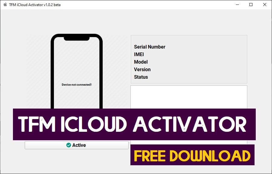 TFM iCloud Activator Tool v1.0.7 Beta Free Download | Latest Version