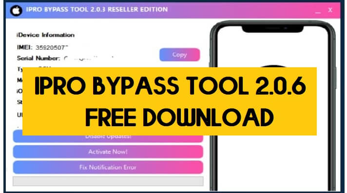 iPro Bypass Tool 2.0.6 Beta Free Download | Latest Method | iCloud Unlock