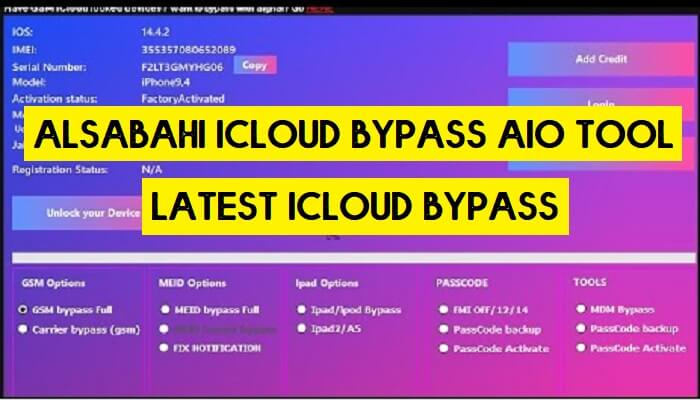 Alsabahi Icloud Bypass Aio Tool v3.7 Latest Version Free Download