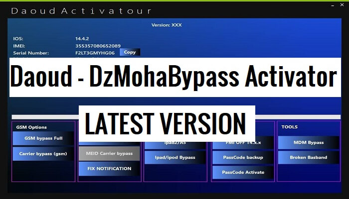 Daoud - DzMohaBypass Tool Latest Version Free Download (100% Works)