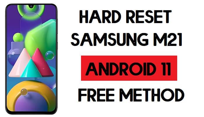 Hard Reset Samsung M21 Remove Password/Pattern/Pin Lock [Android 11]
