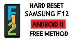 Hard Reset Samsung F12 Remove Password/Pattern Lock [Android 11]