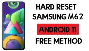 Hard Reset Samsung M62 Remove Password/Pattern/Pin Lock [Android 11]