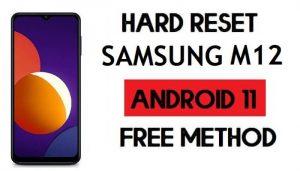 Hard Reset Samsung M12 Remove Password/Pattern Lock [Android 11]