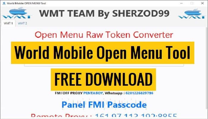 World Mobile Open Menu Tool Download New Method Proxy, Removal iCloud Access Menu