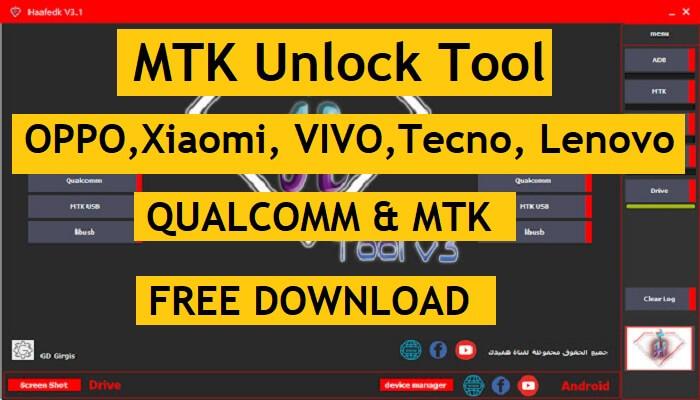 OPPO, Xiaomi, VIVO, Tecno, Lenovo Unlock Tool Latest | Haafedk v3.1