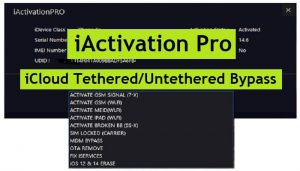 iActivation Pro V2.0.1 iCloud Tethered/Untethered Bypass Latest Version Free Download