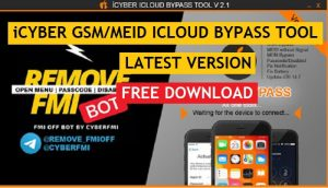iCyber GSM/MEID Icloud Bypass Tool V2.1 Latest Version Free Download (100% Working) for Windows
