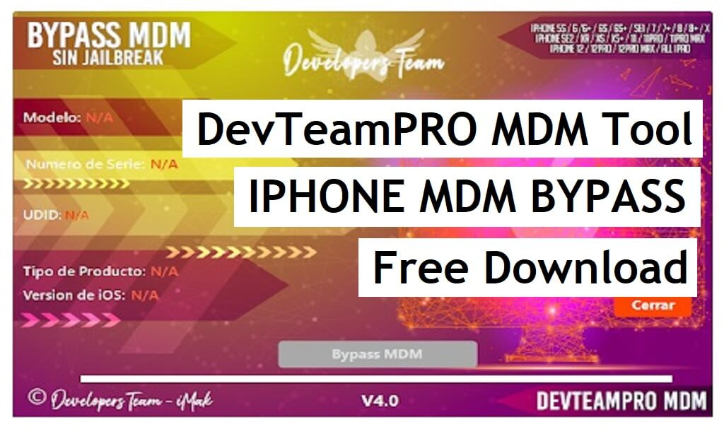 DevTeamPRO MDM Tool V4.0 Free Download | For iPhone, iPad MDM Bypass