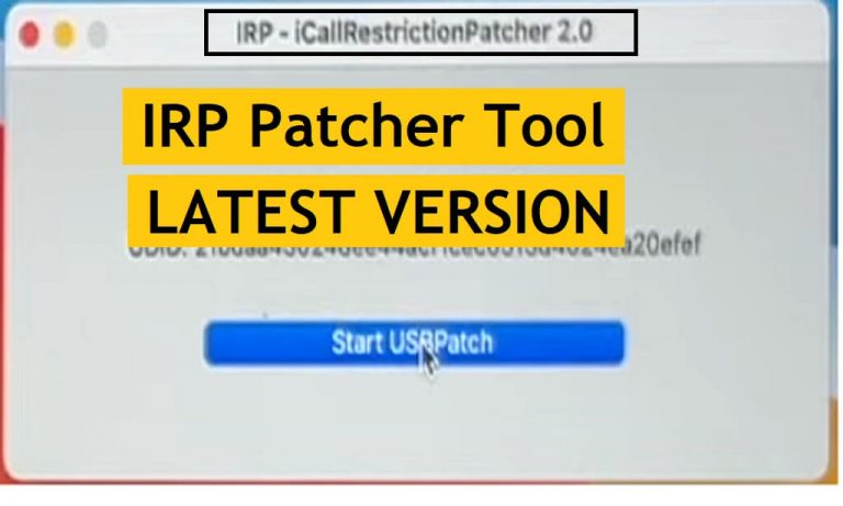 IRP Patcher Tool 2.0 Latest Version for MAC | iCall Restriction Patcher Tool