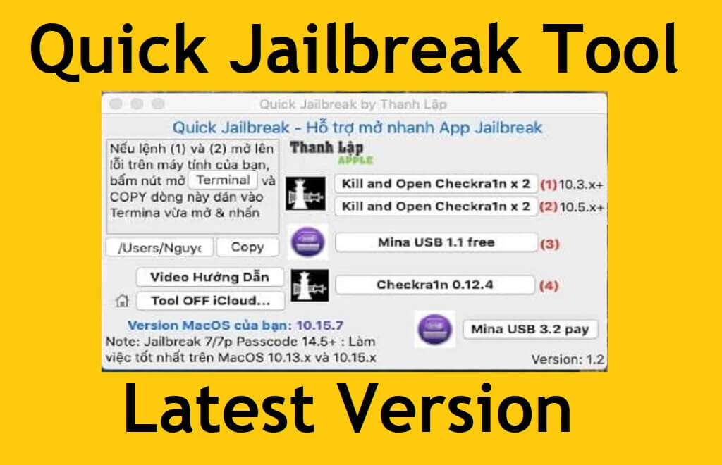 Quick Jailbreak Tool V1.2 Free Download Latest for Mac PC