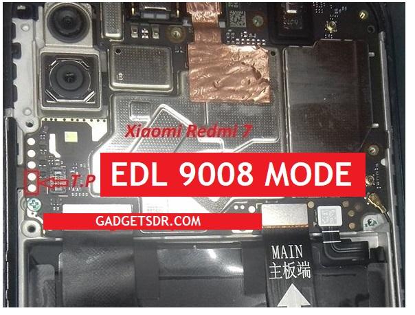 Xiaomi Redmi 7 Test Point EDL Mode Pinouts - Reboot to EDL 9008 Mode