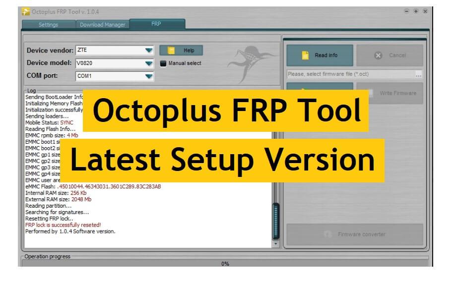 Octoplus FRP Tool v2.0.5 Latest Setup Update Free Download