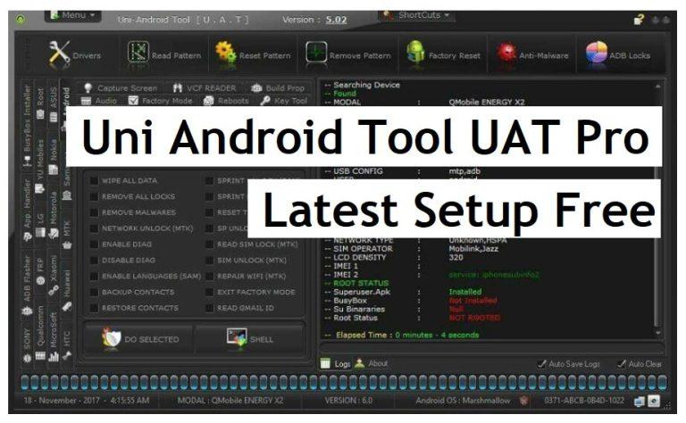 Uni Android Tool UAT Pro latest setup Free download for windows